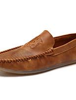 Herren-Loafers & Slip-Ons-Outddor Büro Lässig-PU-Flacher Absatz-Komfort Mokassin-