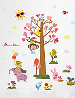 Wall Stickers Wall Decals Style Cartoon Tree Elephant Zoo PVC Wall Stickers