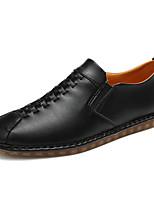 Herren-Loafers & Slip-Ons-Outddor Lässig Sportlich-Leder-Flacher Absatz-Komfort-