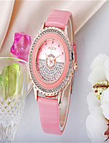 Women's Fashion Watch Quartz Leather Band Black White Blue Red Pink Brand