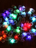 50pcs / set הוביל rgb Flash מנורות בלון אורות עבור נייר פנס בלון אור multicolor לבן כחול צהוב קישוט החתונה