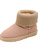Women's Boots Winter Comfort Nappa Leather Casual Almond Blushing Pink Gray