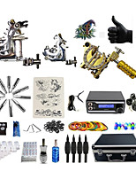 Complete Tattoo Kit 3 G3Z0A4A6P Machines Liner & Shader Dual LED Power Supply