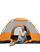 3-4 personnes Tente Unique Tente automatique Une pièce Tente de camping 2000-3000 mm Fibre de verre Polyuréthane OxfordRésistant à