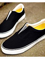 Men's Loafers & Slip-Ons Spring Comfort PU Casual White Black Yellow
