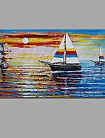 Ručně malované Zátiší Horizontálně,Moderní evropský styl Jeden panel Plátno Hang-malované olejomalba For Home dekorace