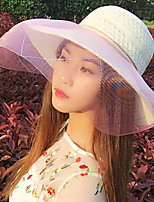 Big Wide Large Brim Uv Sunscreen Shading Solid Beach Sun Hat Cap for Lady Women