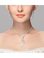 Femme Collier court /Ras-du-cou Alliage euroaméricains Blanc Bijoux PourMariage Soirée Occasion spéciale Anniversaire Fiançailles