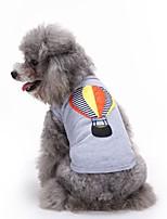 Коты Собаки Футболка Жилет Одежда для собак Лето Вышивка Милые Мода На каждый день