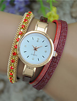 Women's Fashion Watch Bracelet Watch Quartz Leather Band Bangle