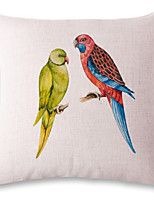 1 pcs Two parrots printing style linen pillow sets sofa cushions cover