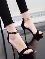 Femme-Bureau & Travail Décontracté-Noir Rose dragée clairConfort Chaussures formelles-Chaussures à Talons-Polyuréthane