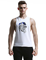 Men's Sleeveless Running Tank Breathable Soft Comfortable Summer Sports Wear Exercise & Fitness Leisure Sports Basketball Running Cotton