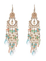 6 Colors 2017 Fashion Bohemia Water Drop Tassel Earrings Charm Gem Long Earrings For Women Wedding Jewelry
