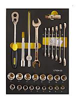 Stanley Werkzeugsatz 12,5 mm Serie metrisch lt-024-23 doppelter offener Schraubenschlüssel 6 Winkelhülse