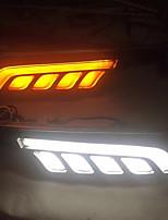Vw golf 7 led drl указатель поворота лампа комплект белый / желтый цвета (левый / правый боковые светодиодные лампы комплект)