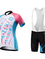 Maillot de Ciclismo con Shorts Bib Mujer Unisex Mangas cortas BicicletaPecheros/Mallas Largas Con Tirantes/Corsario Tirantes