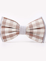 The Fashion Leisure Clothing Accessories CB01906 Cotton Men's Plaid Bow Tie