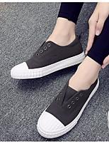 Черный Серый Хаки-Для женщин-Повседневный-ПолиуретанУдобная обувь-Кеды