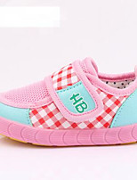 Baby Girls' Flats First Walkers Tulle Spring Fall Casual Outdoor Walking First Walkers Magic Tape Low Heel Green Blushing Pink Khaki Flat