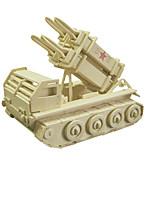 Quebra-cabeças Quebra-Cabeças 3D Blocos de construção Brinquedos Faça Você Mesmo Tanque Madeira Modelo e Blocos de Construção