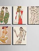 The Logicians Oil Painting Engraved Canvas Print Wall Art  Egon Schiele 2 Multi Style Selection