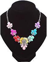 Жен. Ожерелья-цепочки В форме цветка Геометрической формы Сплав Мода Euramerican Бижутерия ДляСвадьба Для вечеринок Особые случаи День
