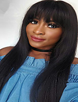 Grade 8 Brazilian Human Virgin Human Hair Glueless Lace Front Wig Natural Straight Lace Wig with Baby Hair
