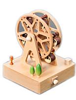 Music Box  Famous buildings Model & Building Toy Wood Unisex