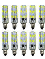 HKV® Dimmable BA15D E14 E17 E12 5W 80LED 4014SMD 400-500 lm Warm White Cool White LED Bi-pin Lights AC 110V / AC 220V 10 pcs