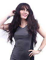 Long Body Wave Dark Brown Women Synthetic Wig Fiber Cheap Cosplay Party Hair