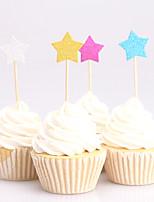 Decorações de Bolo Não-personalizado Papel de Cartão Casamento Aniversário Despedida de Solteira Chá de Bébe Festa de 16 AnosTema