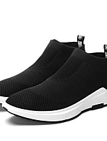 Men's Sneakers Spring Fall Comfort Fabric Casual Walking Flat Heel Black