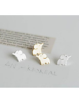 Stud Earrings Jewelry Fashion Adorable Simple Style Chrome Silver Gold Jewelry For Wedding Party Birthday Gift 1 pair