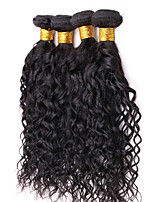 Natural Color Hair Weaves Malaysian Texture Water Wave 12 Months 4 Pieces hair weaves
