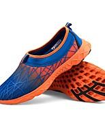 Оранжевый Темно-синий Желтый Зеленый-Для мужчин-Для прогулок Для занятий спортом-Тюль-На низком каблуке-Удобная обувь Светодиодные подошвы