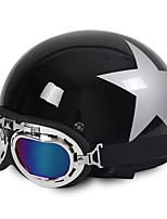 Casques de moto visage ouvert demi-moto&Casque anti-éblouissement Unisexe
