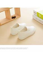 Белый Черный Красный Розовый-Девочки-Для прогулок Повседневный-Полиуретан-На низком каблуке-Обувь для малышей-На плокой подошве