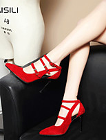 Women's Heels Spring Comfort PU Casual Red
