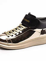 Золотой Черный Серебряный-Для мужчин-Для офиса Повседневный Для вечеринки / ужина-ПолиуретанУдобная обувь-Кеды