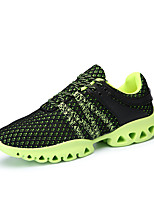 Men's Athletic Shoes Spring Summer Fall Winter Comfort Couple Shoes Tulle Outdoor Athletic Casual Lace-up Blue Green Gray Running