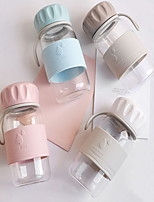 Novedades Artículos para Bebida, 400 ml Portable Vidrio Agua Botellas de Agua