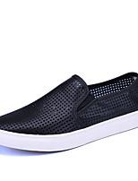 Белый Черный-Для мужчин-Для прогулок Повседневный Для занятий спортом-Тюль-На плоской подошве-Удобная обувь Светодиодные подошвы Пара