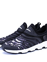 Men's Sneakers Spring Fall Comfort PU Outdoor Casual Lace-up Black/White Black Running