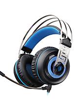 Sades A7 USB 7.1 de sonido envolvente profesional azul del juego de auriculares estéreo de auriculares llevó iluminación con micrófono