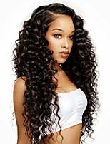 360 perruque en dentelle cheveux vierges humains 130% densité couleur noire perruque courbée avec cheveux bébé