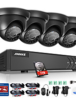 ANNKE® 8CH 1080N DVR 720P HD Camera Surveillance Security System IR Cut Waterproof Monitor P2P 1TB