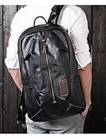 Men Backpack PU All Seasons Casual Black