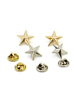 Women's Boys´ Brooches Euramerican Gold Plated Alloy Star Silver Gold Jewelry For Wedding Party Daily Casual