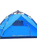 LYTOP/飞拓 3-4 personnes Tente Double Tente automatique Une pièce Tente de camping Fibre de verre OxfordEtanche Respirabilité Résistant aux